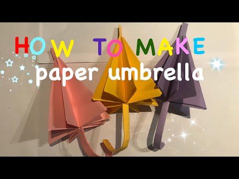 How to make paper umbrella (easy) Origami