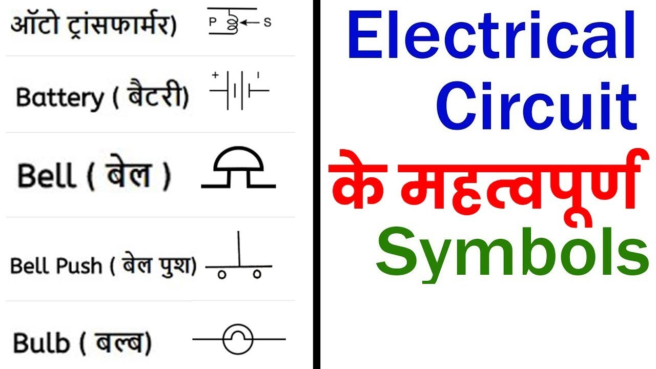 general symbols used in electrical circuit in hindi urdu [ 1280 x 720 Pixel ]