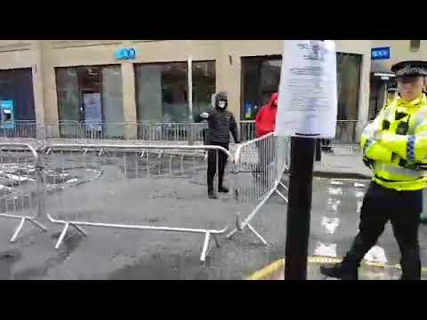 SDL (Scottish Defence League) Clash with Antifa protesters in Perth, Scotland today.