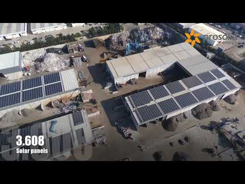 Photovoltaic self consumption installation in Ambigroup Reciclagem in Lisbon, Portugal