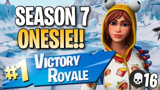 "Saison 7 ""Onesie"" Skin!! 16 Elims! - Fortnite: Jeu De Battle Royale"