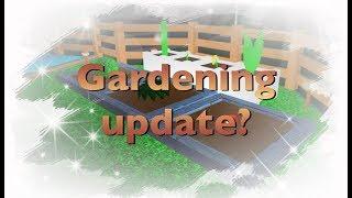 Atualização de jardinagem! Roblox bloxburg