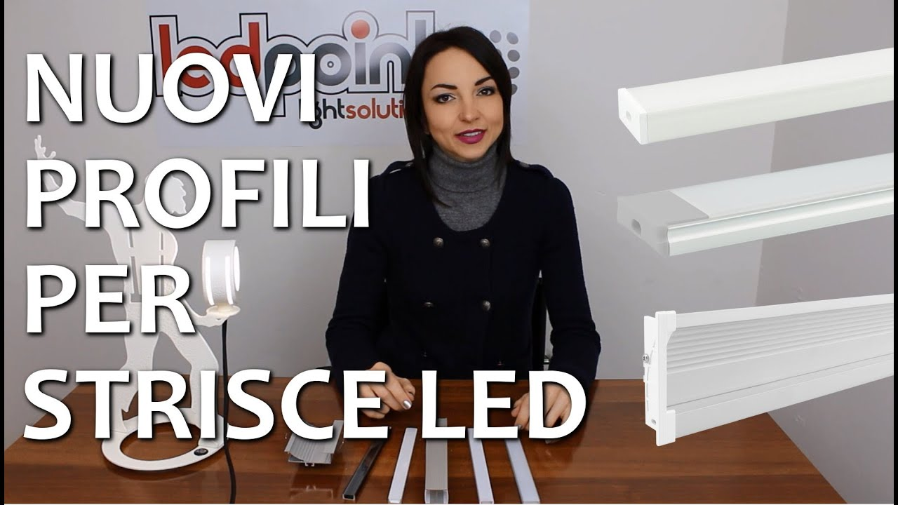 Nuovi profili per strisce led ledpoint youtube for Cornici per strisce led