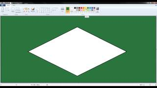 World Cup Flags: How to draw the Brazilian flag in paint