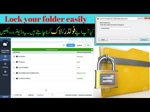 how to lock your folder in pc 2017 best software