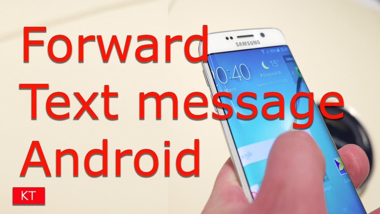 How to forward a text message on android