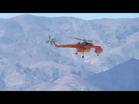 Helicopter Air Crane Test Flight Over Death Valley National Park