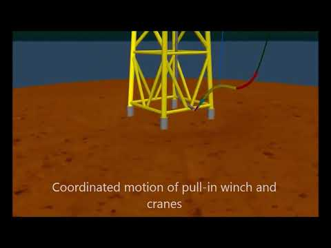 Offshore Wind Farm - Example export cable and cable protection system installation