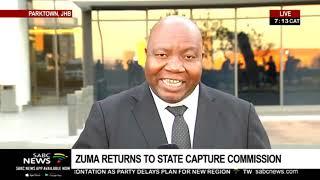 Zuma returns to Zondo Commission