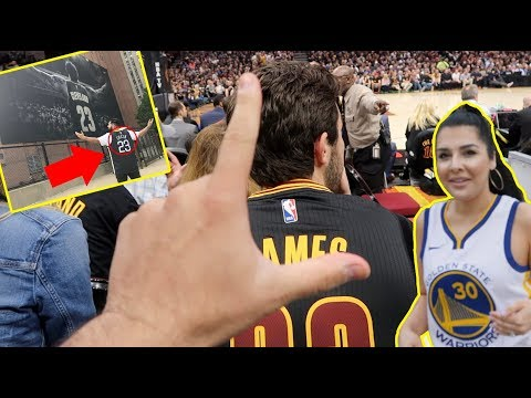 TROLLING LEBRON FANS AT THE NBA FINALS!! (WARRIORS FANS)
