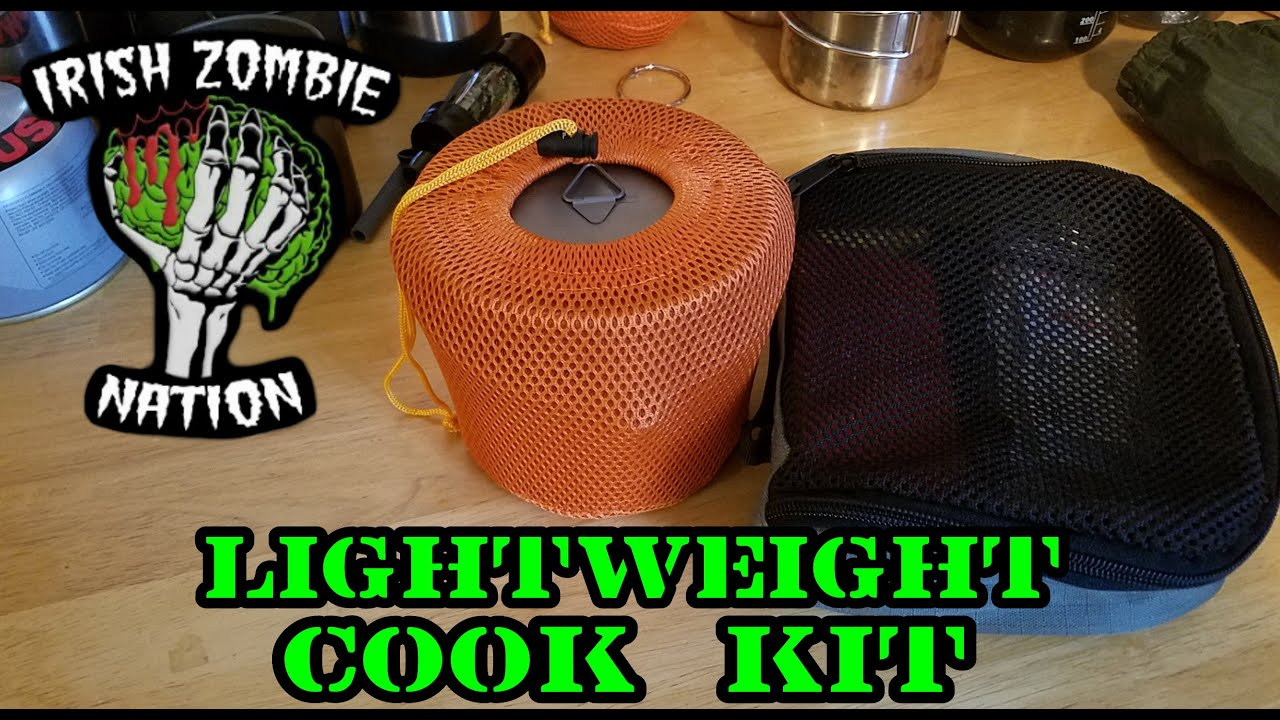 Lightweight Cook Kit Camp Kitchen For Backpacking Hiking And Camping Youtube