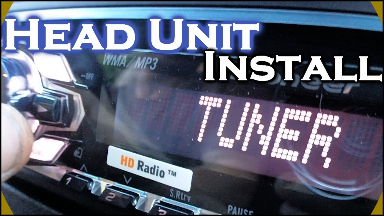 installing pioneer head unit how to install a deh 4400hd car cd player dash kit wiring harness youtube [ 1280 x 720 Pixel ]