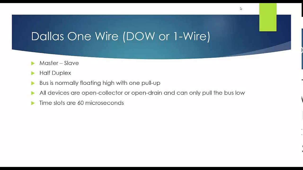 Dallas One-Wire Part 1 - YouTube