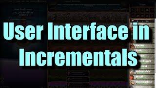 User Interface in Incremental games