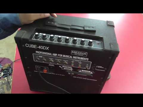 Medha Cube-40DX Amplifier  Full Review  easy karaoke song  use professional singer