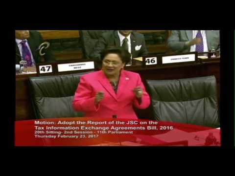 Kamla Persad Bissessar Re Tax Information Exchange Agreements Bill