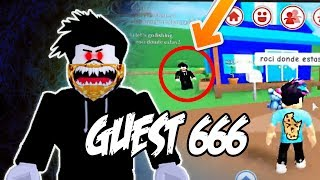 GUEST 666 Appears in My Game [I ALLOW YOU AND THIS HAPPENS...] ROBLOX