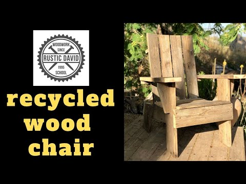 Making an Easy Garden Chair from Recycled Wood