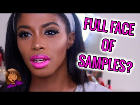 FULL FACE OF SAMPLES x FIRST IMPRESSIONS: Trying New Makeup. | Jeseniá Cheveria