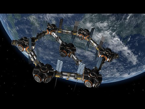 Giant Hexagon Fuel Station - Kerbal Space Program