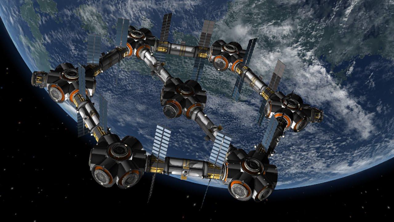 Giant Hexagon Fuel Station Kerbal Space Program YouTube