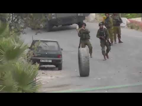 Israel army and Palestinian Ghaza