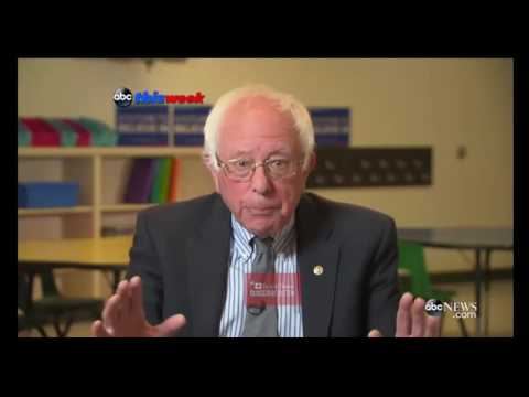 Bernie Sanders: Many See Hillary as 'Lesser of Two Evils' This Week Abc