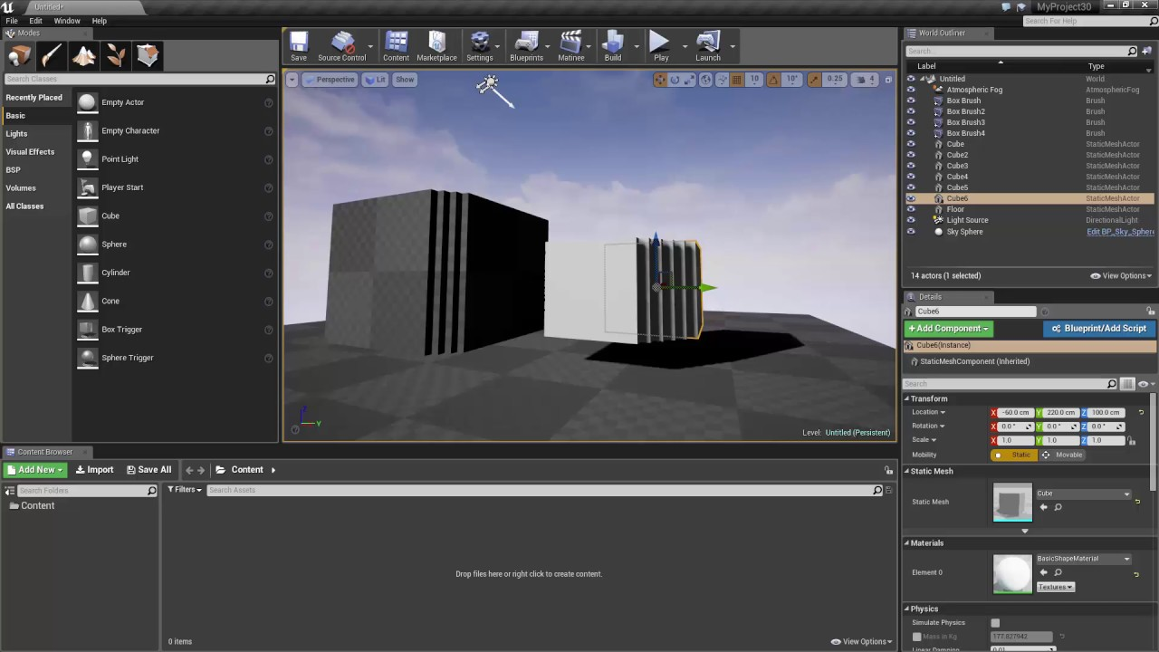 What is the Difference Between Meshes vs Brushes in Unreal Engine 4?