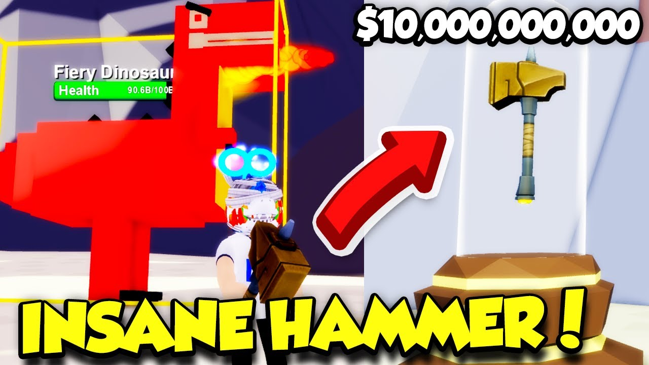 Download BUYING THE $10,000,000,000 HAMMER AND BEATING BOSS DINO IN SIZZLING SIMULATOR! (Roblox)