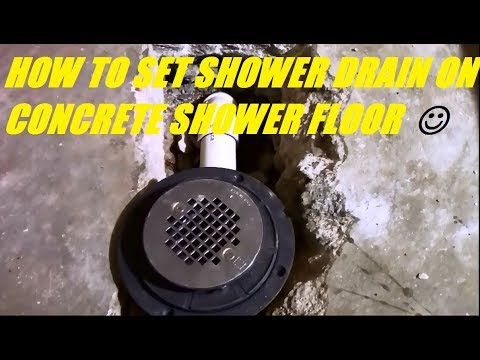 Shower Drain On Concrete Slab You