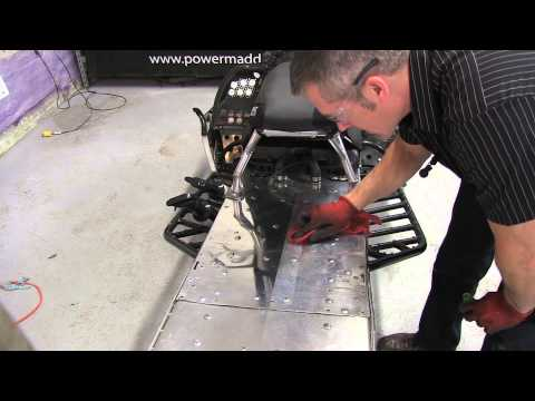 Polishing A Snowmobile Tunnel, This Stuff Works!  PowerModz!