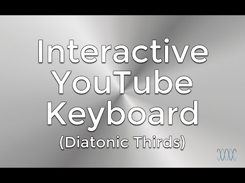 Interactive C Major Scale (YouTube Piano) - Diatonic Thirds - WARRENMUSIC Series - Harmony Module