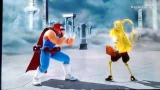Soulcalibur V creations: spongebob VS duffman