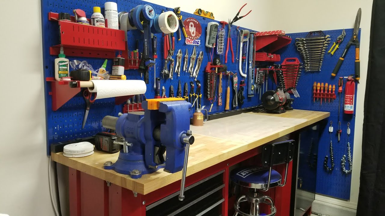 Garage Workbench Pegboard Www Pixshark Com Images