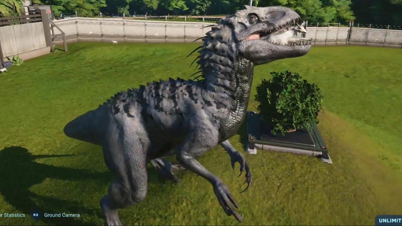 Jurassic World Evolution Indominus Rex Alpine Skin Gameplay Ps4 Hd 1080p60fps