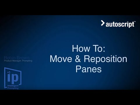 WinPlus-IP How To: Move and Reposition Panes