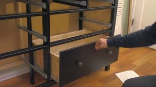 How To Assemble An Ikea Dresser (part 3 Of 3)   Drawers