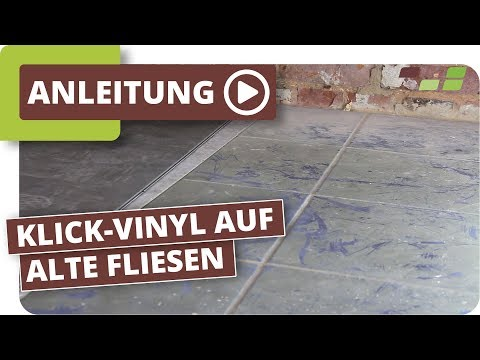 vinylboden auf fliesen verlegen planeo klick vinyl how to save money and do it yourself. Black Bedroom Furniture Sets. Home Design Ideas