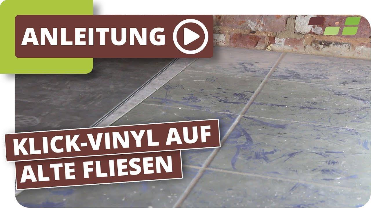 vinylboden auf fliesen verlegen planeo klick-vinyl - youtube