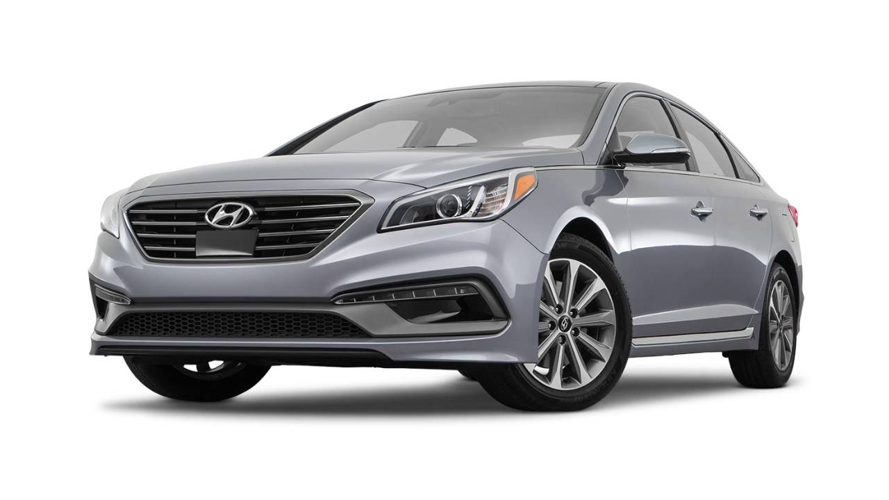 Hyundai Sonata: Recommended cold tire inflation pressures