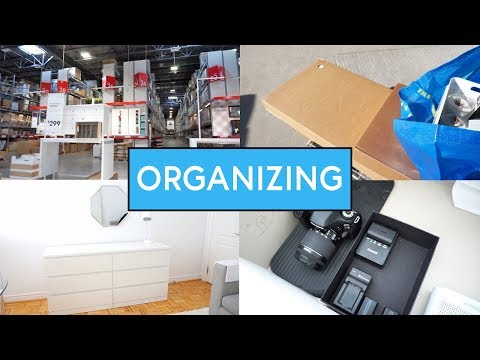 VLOG - IKEA SHOP WITH ME & REORGANIZING!