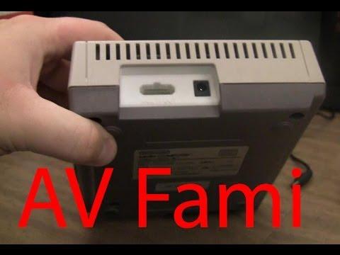 AV Famicom Nintendo with 3D printed rear panel