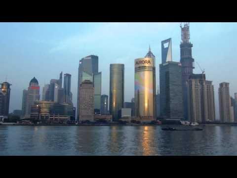 China - Bund Tower and Pudong at Sunset