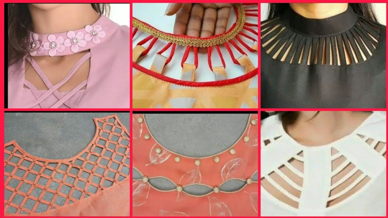Latest New Neck Designs Designer Pearls Work Neck For Kurta Kameez Kurti Neck Frocks Designs 2020 Youtube