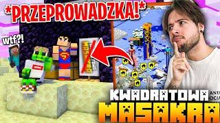 WYNIOSŁEM SIĘ DO ENDU.. bo wyspa roz*****a  (Minecraft Kwadratowa Masakra)