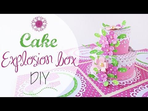 Explosion Box Torta di Compleanno - DIY B-day cake explosion box