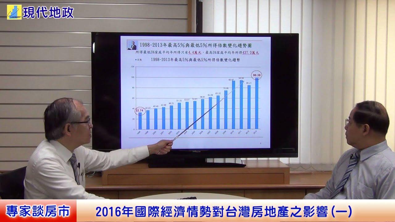 2016年國際經濟情勢對臺灣房地產之影響(一) - YouTube
