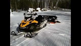 2015 Skidoo Skandic 900 ACE SWT - Grooming XC Ski Trails with a Ginzu