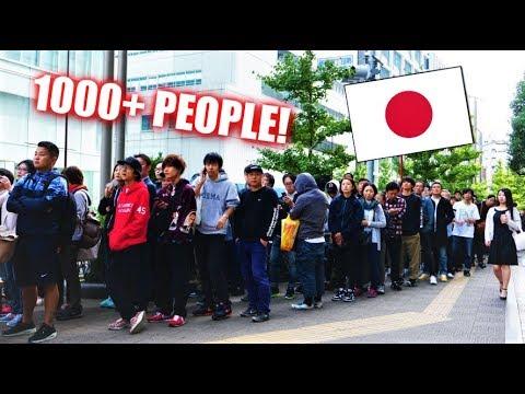 1000+ SNEAKER LINE UP IN  JAPAN! + FAKE YEEZYS EXPOSED IN PUBLIC!