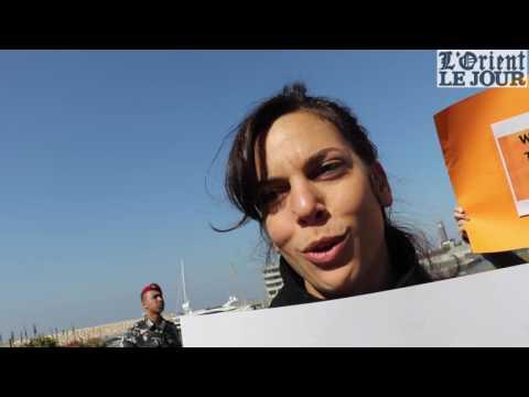 Un sit-in contre la visite de Marine Le Pen à Beyrouth